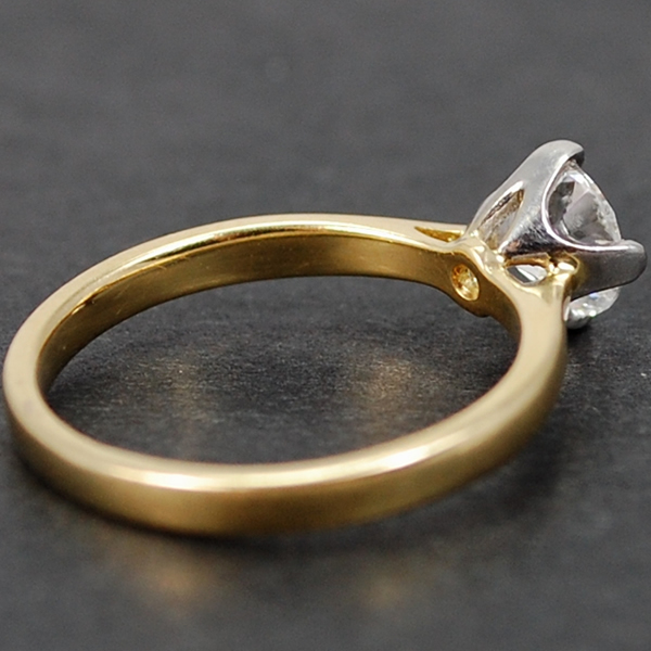 18ct Yellow Gold 0.75 Carat Solitaire Diamond Ring in Modern Jewellery from Coopers Jewellery, North Devon
