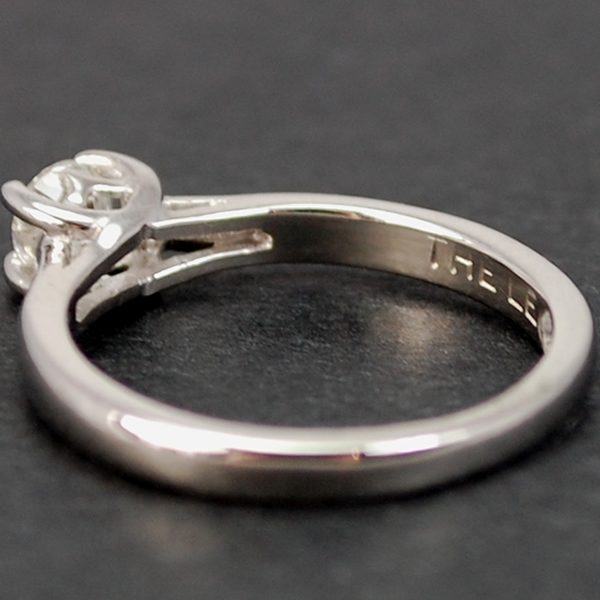 Platinum Brilliant Cut 0.36 Carat Diamond Ring in Modern Jewellery from Coopers Jewellery, North Devon