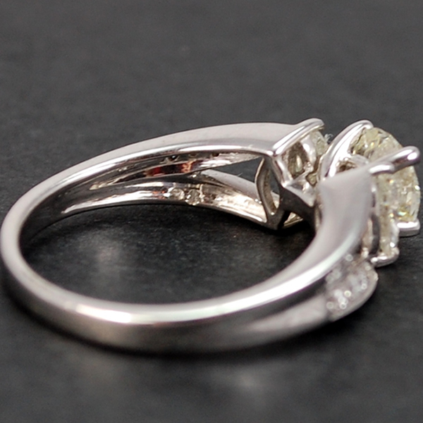 18ct White Gold Brilliant and Marquise Cut Diamond Ring in Modern Jewellery from Coopers Jewellery, North Devon