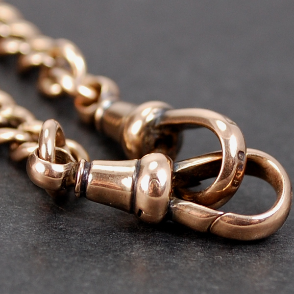 Victorian 9ct Rose Gold Double Graduated Albert Chain  in Antique Jewellery from Coopers Jewellery, North Devon