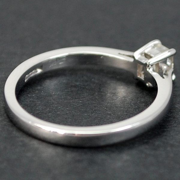 18ct White Gold Emerald Cut 0.25 Carat Diamond Ring in Modern Jewellery from Coopers Jewellery, North Devon