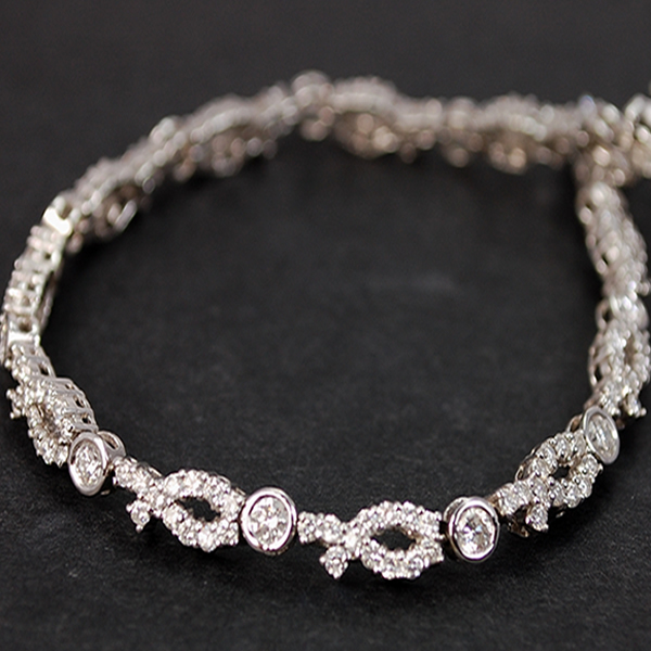 18ct White Gold 3 Carat Fancy Diamond Bracelet in Modern Jewellery from Coopers Jewellery, North Devon