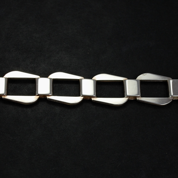 Gents Silver Link Bracelet  in Silver Jewellery from Coopers Jewellery, North Devon