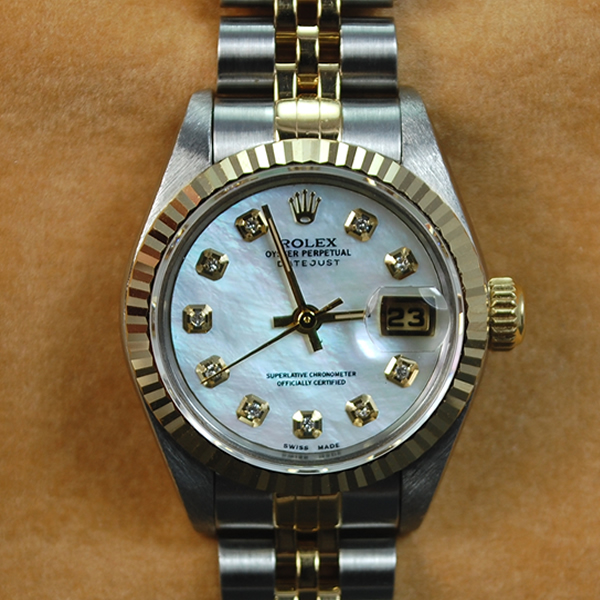 Ladies Rolex Steel and Gold Datejust Watch  in Watches from Coopers Jewellery, North Devon