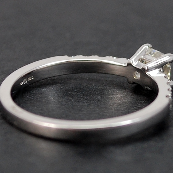 18ct White Gold Princess Cut 0.60 Carat Diamond Ring in Modern Jewellery from Coopers Jewellery, North Devon