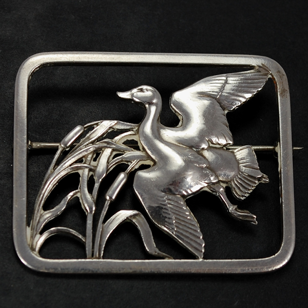 Vintage Georg Jenson silver  brooch 300 in Vintage Jewellery from Coopers Jewellery, North Devon