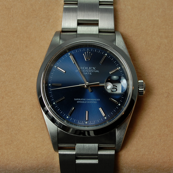 Gents Rolex All Steel Oyster Perpetual Date  in Watches from Coopers Jewellery, North Devon