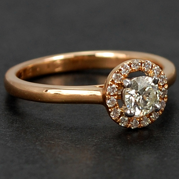 18ct Rose Gold Halo Cluster Diamond Ring  in Modern Jewellery from Coopers Jewellery, North Devon