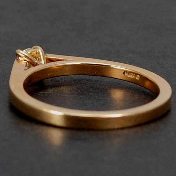 18ct Rose Gold Brilliant Cut 0.20 Carat Diamond Ring in Modern Jewellery from Coopers Jewellery, North Devon
